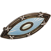 950 Sterling and Enamel Brooch