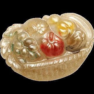 SALE Fruit Basket Celluloid Brooch