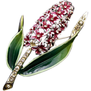 Beautiful Spring Hyacinth Flower Brooch