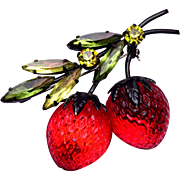 Austria Double Strawberry Brooch