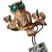 1948 A. Katz Coro Owl Brooch Book Piece
