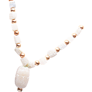 Alabaster Egyptian Scarab Necklace