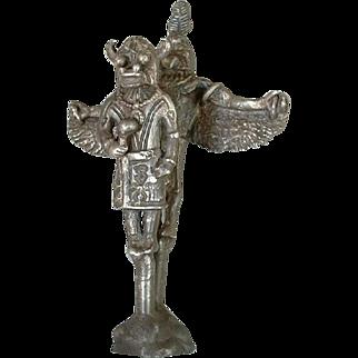 SALE RARE Old Pawn Native American STERLING Silver KACHINA Dancer Figurine MINIATURE Sculpture c.1940s