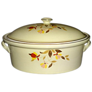 Hall Jewel Tea Autumn Leaf Collector's Club Covered Casserole