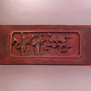 Handcarved Chinese Wooden Panel