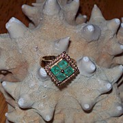 Natural Columbian Emerald and 14 Karat Gold Ring