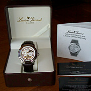 Lucien Piccard Moon Phase Watch with Leather Band