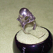 Modernist Sterling Orb Ring